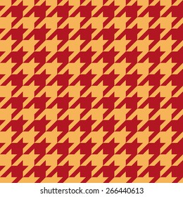 Seamless luxury red and gold houndstooth pattern