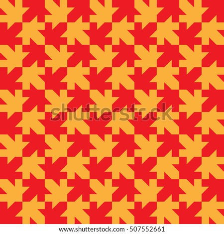Seamless Maple Leaf Pattern Regular Tiled Stock Illustration Fascinating Maple Leaf Pattern