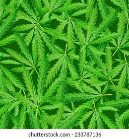 Seamless marijuana background.