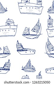 Seamless Marine Pattern for Textile Print for printed fabric design for Womenswear, underwear, activewear kidswear and menswear and Decorative Home Design, Wallpaper Print
