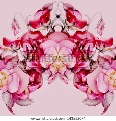 Seamless modern kaleidoscope pattern pink pansy stock illustration seamless modern kaleidoscope pattern with pink pansy flowers mightylinksfo