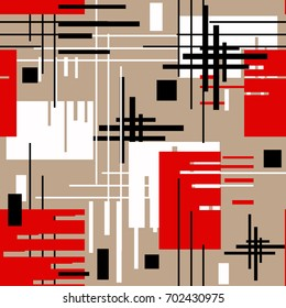 Seamless modern lined shapes pattern