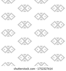 Seamless monochromatic pattern. Textured background in ornamental style. Tileable monochromatic wallpaper. Usable as grey and white tiling, wrappping papers, wallpapers etc.