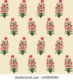 Seamless mughal floral motif