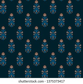 seamless mughal flower pattern with background
