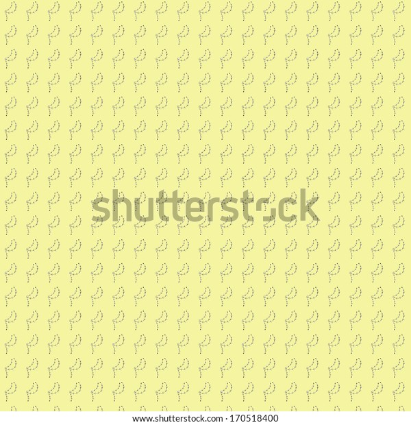 Seamless ornamental nature pattern with beige background