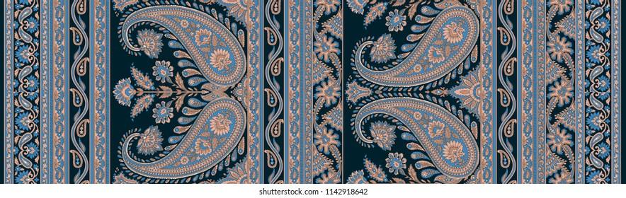 Seamless Paisley Indian motif