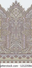 Seamless Paisley Indian motif