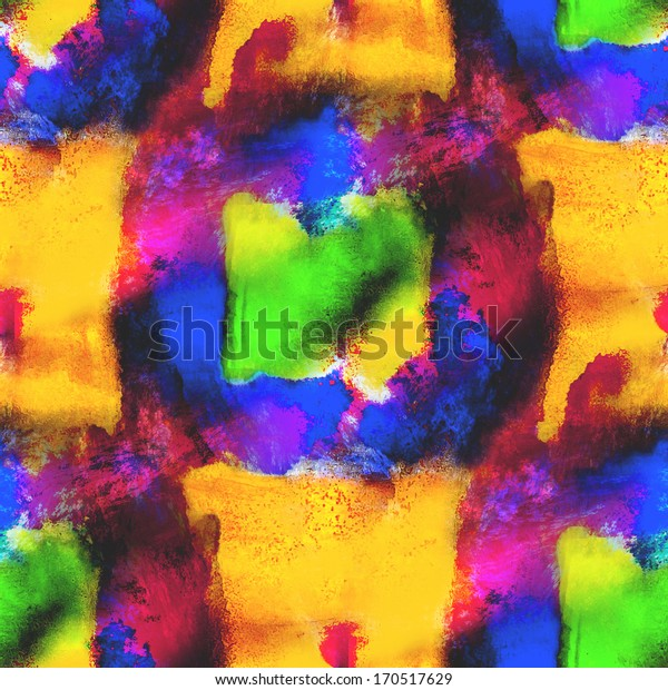 seamless palette yellow, blue, green  picture frame graphic style texture watercolor background