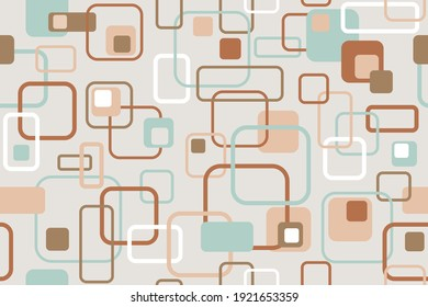 Seamless pastel pattern. Scandinavian style. Template for fabric or wrapping. Modern textile. Geometric. Stylish background. Abstract decor. Pastel colors. Trends. Wallpapers.