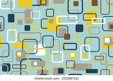 Seamless pastel pattern. Scandinavian style. Template for fabric or wrapping. Modern textile. Squares pattern. Stylish background. Abstract decor. Pastel colors. Trends. Wallpapers.