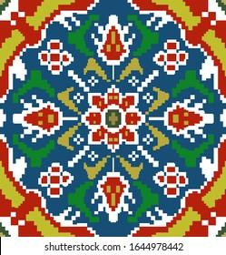 Seamless patola tile digital design