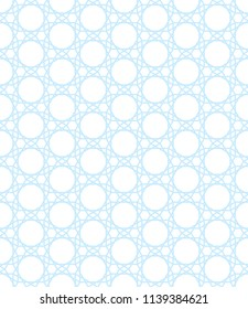 Seamless pattern of the abstract hexagonal geometric ornament