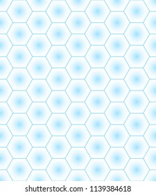 Seamless pattern of the abstract hexagonal gradient elements