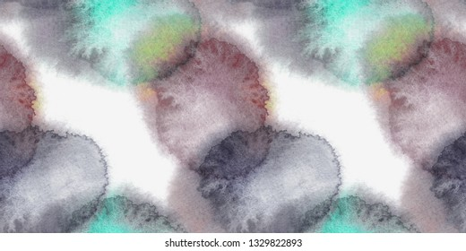 Seamless Pattern of Abstract Stains. Watercolor Background. Hand Painted Illustration.