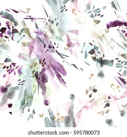 Seamless pattern. Abstract watercolor background.