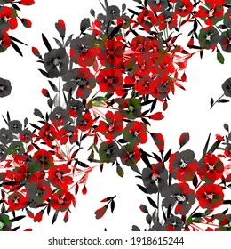 seamless pattern abstracts floral composition