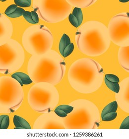 Seamless pattern with apricots.
