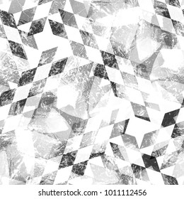 Seamless pattern argyle design. Mixed background with traditional rhombuses and watercolor effect. Textile print for bed linen, jacket, package design, fabric and fashion concepts.
