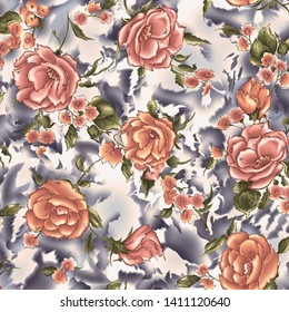 seamless pattern and back ground flower