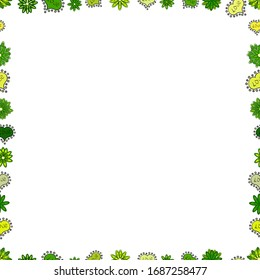Seamless pattern. Background seamless pattern with hand drawn Frame doodle. Doodles frame consists of green, yellow and white border.