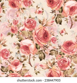 Seamless pattern of beautiful bouquets of roses Y