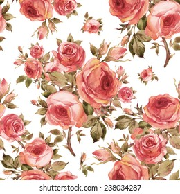 Seamless pattern of beautiful bouquets of roses-2