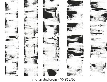 Seamless pattern of birch trees. Graphic illustration.