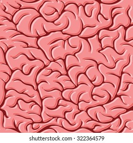 Seamless pattern with brains illustration background.