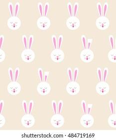 seamless pattern bunny rabbit pattern stock vector royalty free
