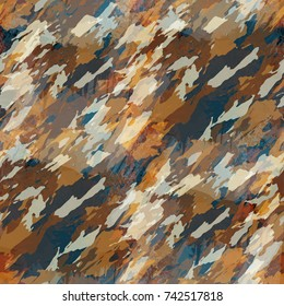 Seamless pattern camouflage design. Mixed background with camo lines and watercolor effect. Textile print for bed linen, jacket, package design, fabric and fashion concepts.