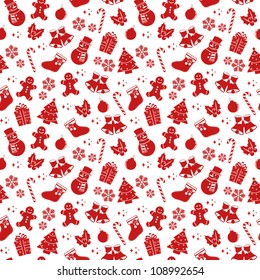 seamless pattern with Christmas elements (vector version available in my gallery)