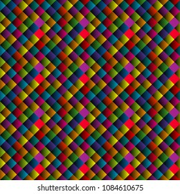 Seamless pattern with colorful rhomboid shapes