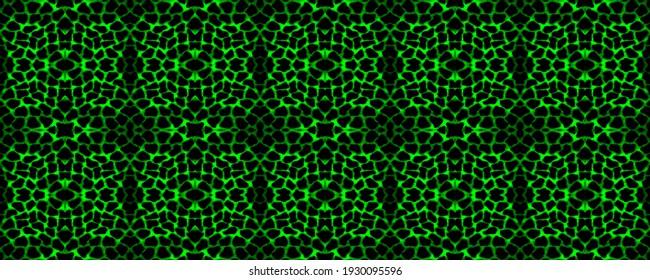 Seamless pattern of crocodile leather, animal skin. Green snake texture repeating safari zoo jungle print. Animal background, tribal ornament. Seamless colorful grunge pattern. Giraffe skin texture.