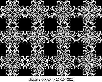 Seamless pattern design with floral background elements, beautiful ornaments