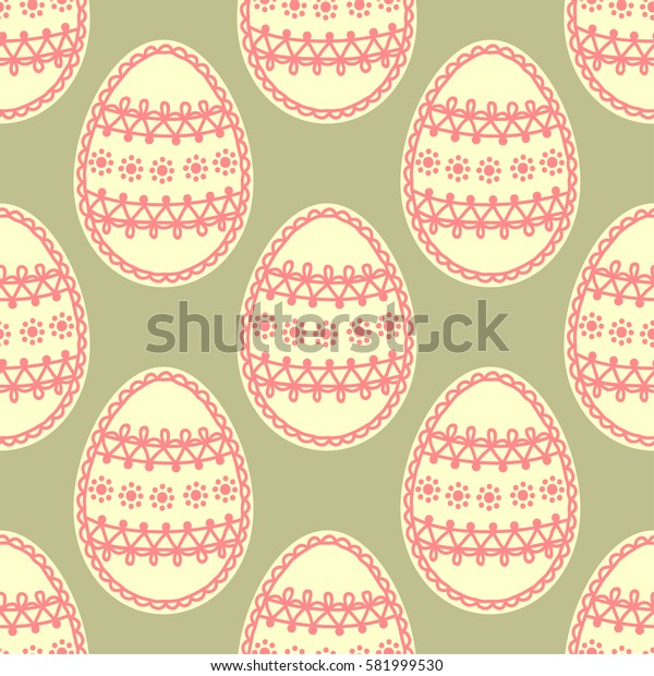 Seamless pattern with easter eggs. Background for greeting card, invitation, wrapping. Illustration.