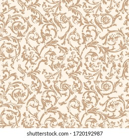 Seamless pattern with Flourish Ethnic motifs in 2 colors