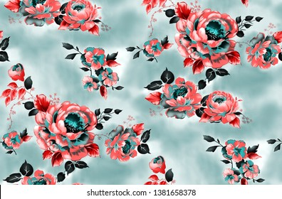 seamless pattern with flower background