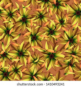 Seamless pattern with flowers. Background with flowers.