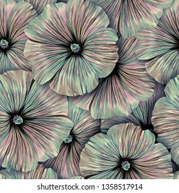 Seamless pattern with flowers. Pattern for print, advertising, web design. Stylization: watercolor.