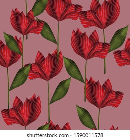 Seamless pattern with flowers for print, greeting cards, advertising.