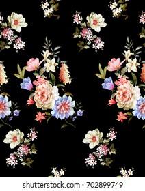 Seamless pattern.. Flowers texture