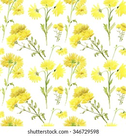 Pastel yellow flowers images stock photos vectors shutterstock seamless pattern with flowers watercolor gentle colors female pattern handmade mightylinksfo