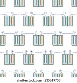 Seamless pattern of the galvanic battery elements