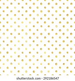 Seamless pattern with gold painted dots.