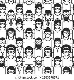 Seamless pattern group people