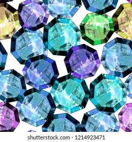 seamless pattern. hand drawing gemstones. Abstract art. for wallpappers. textile design, backgrownds