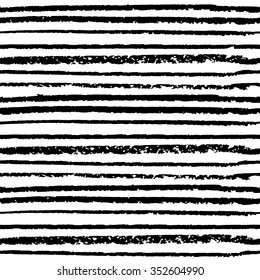 Seamless pattern hand drawn black lines on the white background