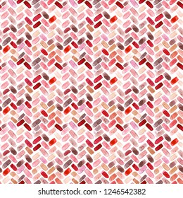 seamless pattern of hand made watercolor herringbone, chevron abstract design