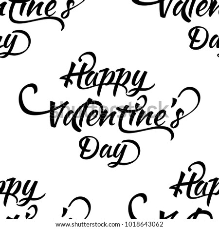 seamless pattern with happy valentines day phrases ornament for valentines day ink illustration